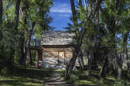 Abandoned settler cabin in Joes Valley in Emery County Utah. Stock Photo
