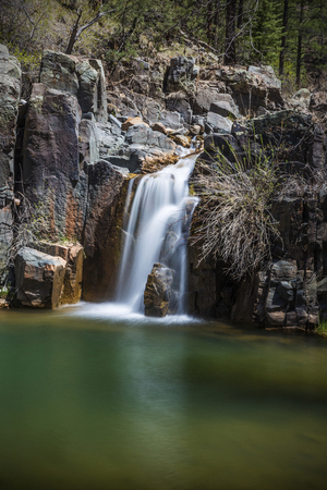 Gordon Creek Falls in the Tonto National Forest in the Mongollon Rim country near Payson Arizona USA Stock Photo