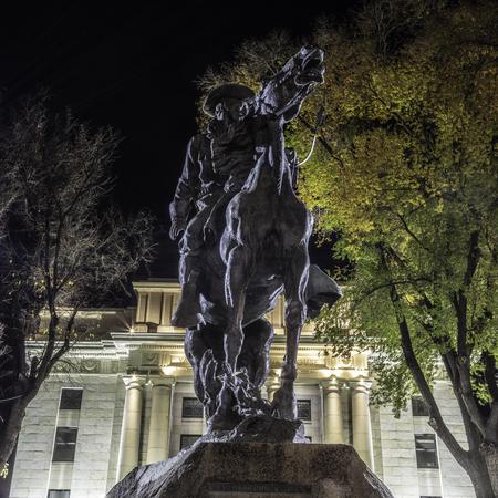 Rough Rider Statue at Yavapai County Courthouse in Prescott Arizona