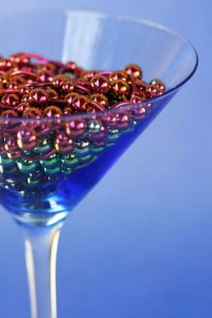 titanium: A martini glass full of titanium navel rings
