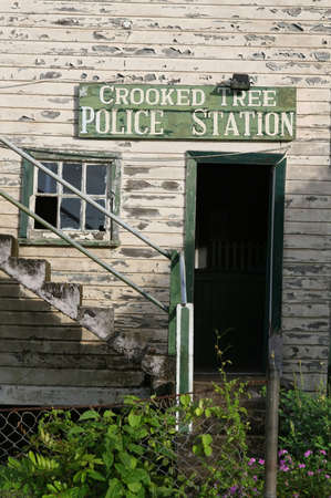 The police station in Crooked Tree, Belize photo