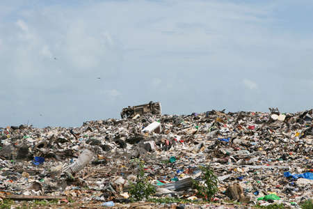 A roadside dump is a common site in Central America. This one is just outside of Belize City. Stock Photo - 1798758