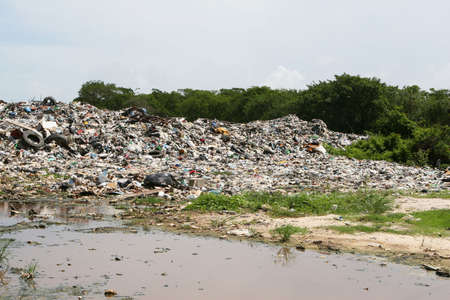 An illegal dumping site outside of Belize City in Central America Stock Photo - 1829918