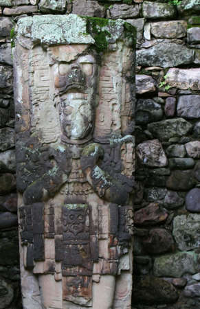 laborious: Intricate Mayan carvings at the Copan site in Central America