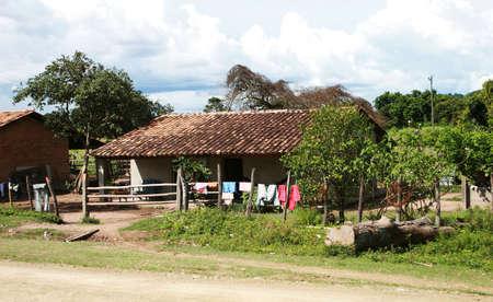 mud house: A rural house in Honduras, Central America Stock Photo