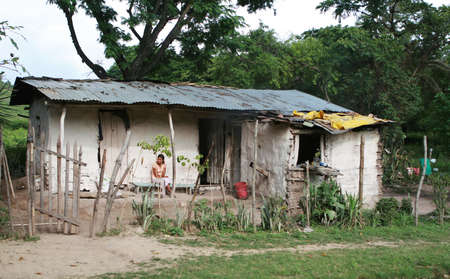 mud house: Rural poverty in central america