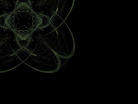 keltic: Green fractal design for background images