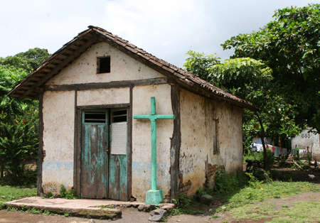 A neglected catholic church in a rural area of Nigaragua Stock Photo