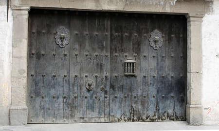 Giant wooden doors of Antigua Guatamala
