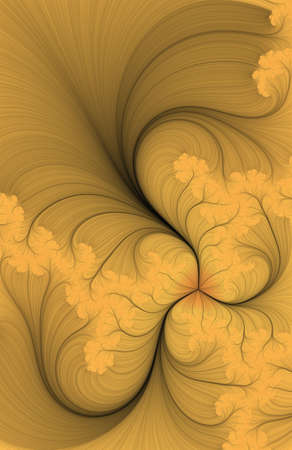 cling: Inside of a flower digitally generated fractal background - very detailed Stock Photo