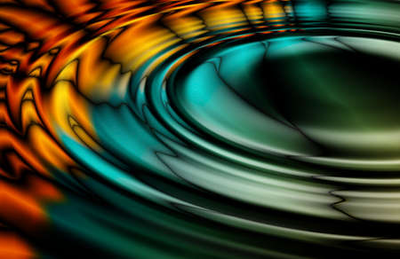 Colorful Oil Slick Ripples fractal generated background image