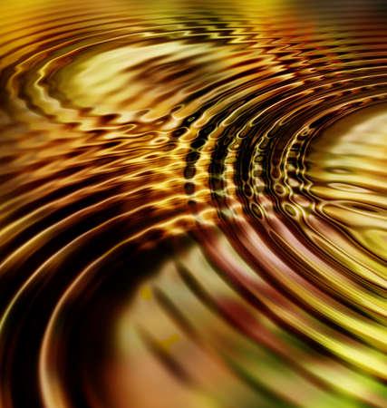 Golden Leaf Ripple Waves Digital Background Image