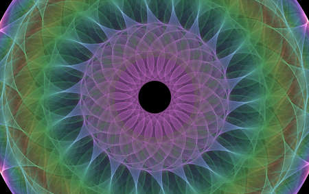 Spirograph digitally generated image