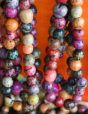 souvenirs: Beaded necklaces for sale in costa rica