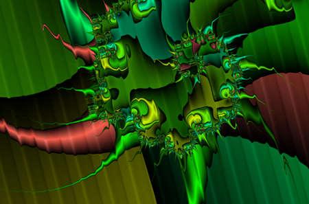 evoking: Digitally Generated Fractal Background Evoking Mythical Dragons