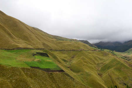 farmed: Steep hillsides are farmed in the highlands of Eduador
