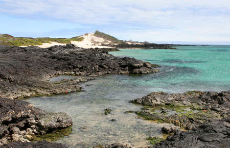 The beatiful shoreline of the Galapagos Islands Stock Photo