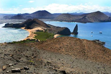 View of Isla Bartolome in the Galapagos Islands