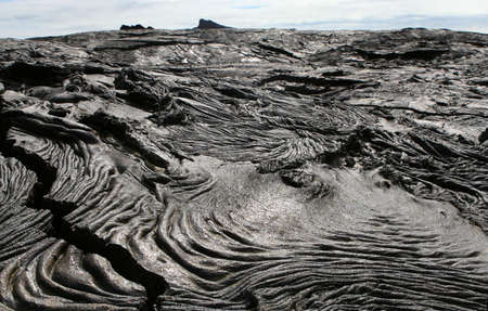 The barren lava fields of the Galapagos Islands Stock Photo