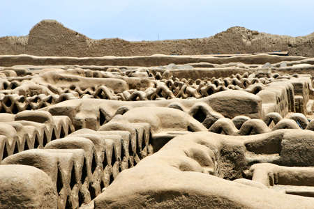 friezes: Chan Chan ruins in modern day Peru is the oldest known Pre-Colombian city in all of South America