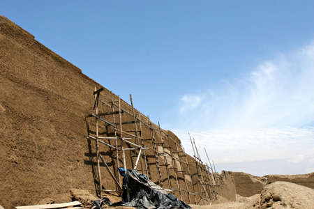 chan: The ancient ruins of Chan Chan in modern day Peru are restored Stock Photo