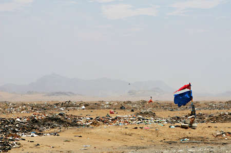 dumping: An unofficial dumping site along the Peruvian coast Stock Photo