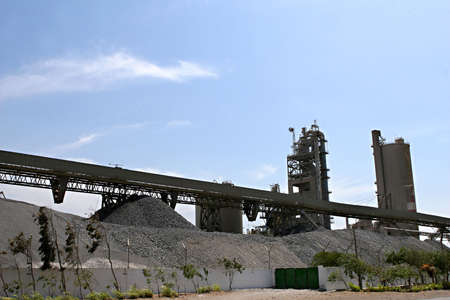 A industrial plant on the coast of Peru produces much of the countries cement.