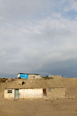 evident: Rampent poverty is evident along the coast of Peru
