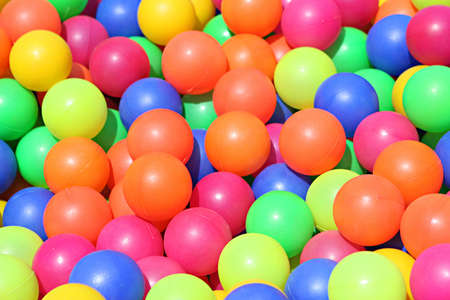 Colorful balls closeup. They are fun to play in for all ages!