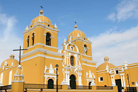 A beautiful spanish colonial church in Trujillo, Peru Stok Fotoğraf