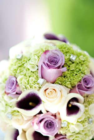 A beautiful wedding floral boquet