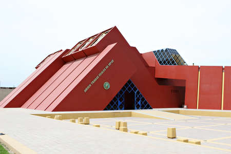 slanted: The museum houses many artifacts from the Mochica Culture. Located near Chiclayo, Peru