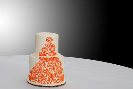 Wedding cake with an Indian flare Stock Photo