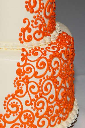 boda pastel: Pastel de boda con un toque indio