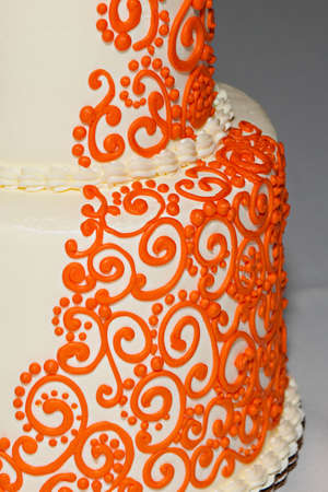 wedding food: Wedding cake with an Indian flare Stock Photo