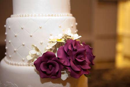 A beautiful wedding cake photo