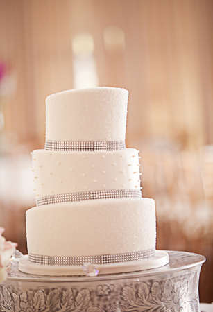 wedding cake: A beautiful wedding cake Stock Photo