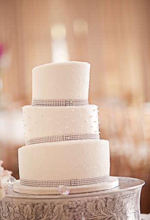 pastel de bodas: Un hermoso pastel de bodas Foto de archivo
