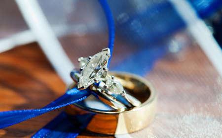 Beautiful marquise cut diamond wedding ring