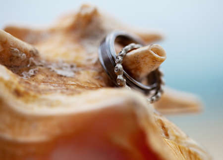 A close-up shot of a beautiful wedding ring photo