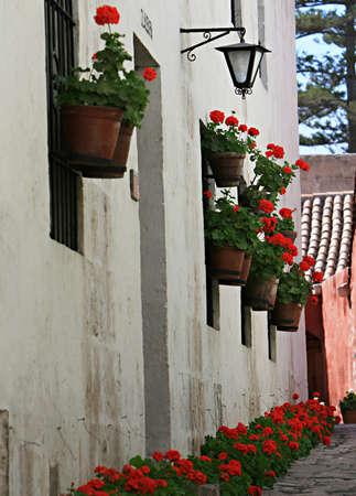 Inside the ancient Santa Catalina convent in Arequipa, Peru