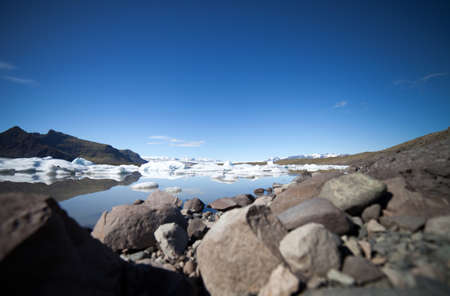 fjallsarlon: Fjallsarlon, glacier iceberg lagoon in Vatnajokull National Park, Iceland