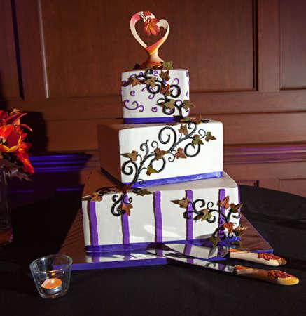 Beautiful wedding cake. An american wedding tradition.