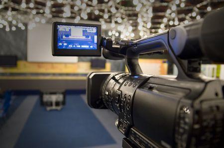 Digital video camera shoots meeting