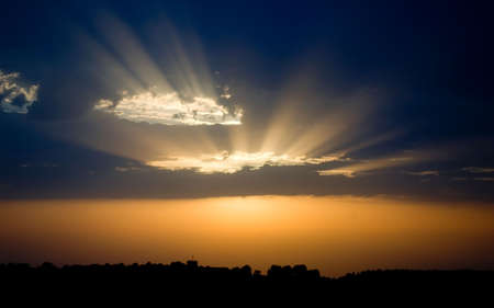 Orange And Blue Sunset - beautiful dynamic sky