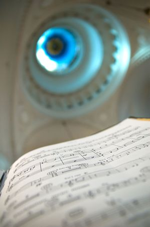 Close-up of sheet music - music notes Stock Photo - 2864258