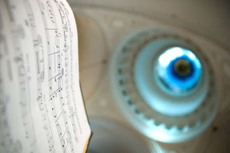Close-up of sheet music - music notes Stock Photo - 2864257