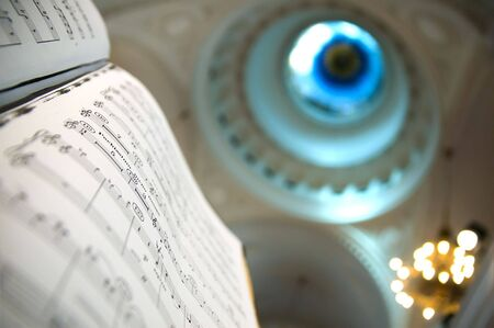 Close-up of sheet music - music notes Stock Photo - 2864259