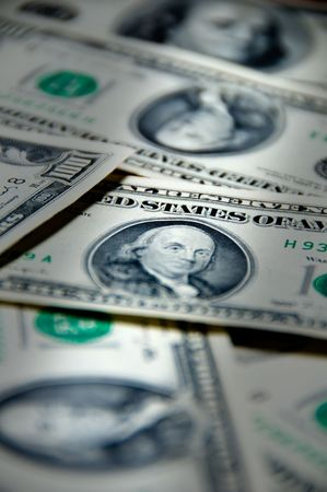 Money background of one hundred dollars $100 bills in US currency Banque d'images