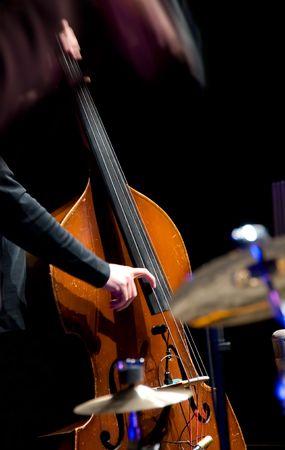 Acoustic double bass player - Classic Jazz Banque d'images